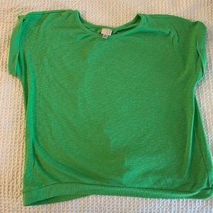 Kelly Green Boxy Sweater short sleeve